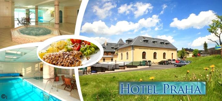 Báječná dovolená – jaro a léto 2018 Boží Dar v 3*Hotelu Praha na 3-6 dní. Stylové ubytování, polopenze, neomezené vstupy do bazénu a vířivky, živá hudba a další výhody. Vychutnejte si horskou turistiku a relaxaci v příjemném hotelu v bezprostřední blízkosti přírodních krás a jiných krušnohorských zajímavostí.